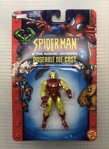 Marvel Universe Iron Man 2.5-inch Poseable Die-Cast Toy Biz NIB Action Figure