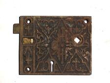 Antique Large & Extremely Ornate Rim Lock