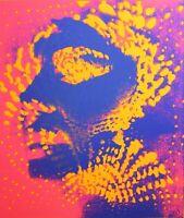 OTTO PIENE - Lichtballett (1972). Ausstellungsplakat / Siebdruck. Heseler.