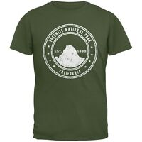 Yosemite National Park Military Green Adult T-Shirt