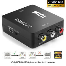 HDMI to AV Converter Output Digital to RCA Analog Audio/Video Input Composite US
