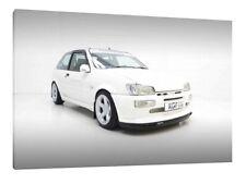 FORD Fiesta RS Turbo - 30x20 pollici tela art-stampa foto incorniciata