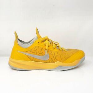 Nike Mens Zoom Crusader 644698-700 Yellow Gray Basketball Shoes Lace Up Size 13