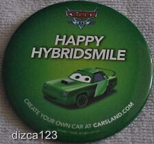 Disney Button Cars Land Green Happy Hybridsmile Opening Day Button