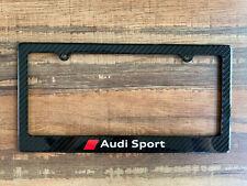 Full Carbon Fiber License Plate Frame - Audi Sport Quattro Cf Cover Holder