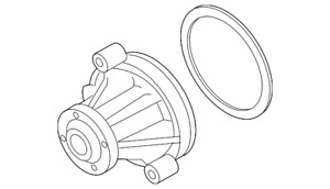 Genuine Ford Water Pump 3L3Z-8501-CA