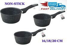Non Stick Granite Marble Coated Saucepan Milk Pan For Induction & Gas Hob