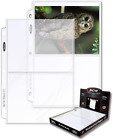 """2-Pocket Photo Pages 25-Pack 5"""" X 7"""" Photos Organizer 3-Ring Binder Sleeves NEW"""