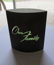 LED Lantern/Nightlight OUR FAMILY -Multi Color Lights batteries-change color