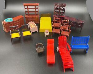 Miniature Vintage Dollhouse Furniture Lot - Marx, Ideal, NOS 19 pcs