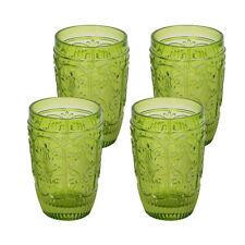 4 Pc Set Old Fashion glass Elegant Barware and Drinkware Green