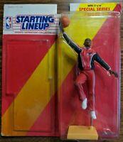 1992 92 STARTING LINEUP Michael Jordan Red Warmups Layup, SLU, No Card