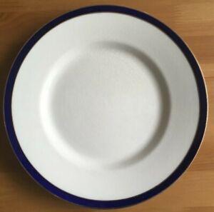 EMPIRE WARE BLUE & WHITE WITH GOLD GILT EDGE -  DINNER PLATE (24.5cm)