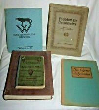 Tischler, Zimmermann, Möbeltischler, antike Nachschlagewerke Fachbücher um 1900