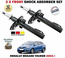 FOR RENAULT MEGANE 2 SPORT TOURER 2003-->NEW 2 X FRONT SHOCK ABSORBER SHOCKER X2