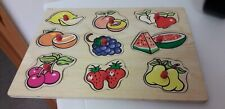 NICE ITEM...WOOD...CHILDRENS JIGSAW PUZZLE..LARGE PIECE...JIGSAW...WOODEN PUZZLE