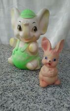 vintage squeaky rubber baby toys sweet babys room decor or photo props