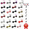 New Stylish Satin Novelty Bow Tie Dickie Bow Pre-Tied - Purple Red Tartan