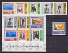Turkey Sc 2188-2194 MNH. 1981 Kemal Ataturk cplt