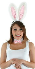 Cute Bunny Rabbit Halloween Costume Accessories Kit White w/Pink Ears NEW UNUSED