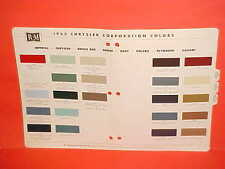 1963 CHRYSLER IMPERIAL CONVERTIBLE PLYMOUTH VALIANT DODGE 880 DART PAINT CHIPS