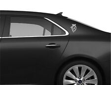 3 x Saab Griffin white Sticker for Rear Quarter, 9-3 Turbo decal 9-3 93 9-5 95