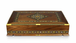 Jewelry Box Wood Chest, Box, Squares, Wooden Box Handcraft Marquetry