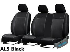 VW CRAFTER Mk2 2017 2018 2019 ARTIFICIAL LEATHER & ALICANTE TAILORED SEAT COVERS