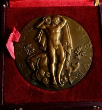 Art Deco 1939 large French Bronze medal by M. RENARD / original Box 60 mm / N136