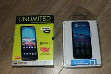 "Straight Talk Motorola Moto e Android Phone Open Box 32GB 4G 6.2"" Display"