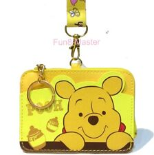Winnie The Pooh Change Coin Purse Card Holder Case Wallet Pouch Bag Lanyard