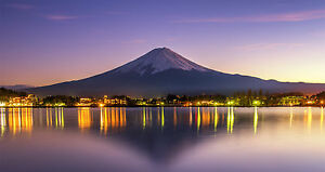 Beautiful scene sunset reflection of mount Fuji Super Giant Poster 2350x1250mm
