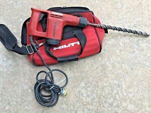 "Hilti TE 12 Corded Hammer Drill + 1"" SDS Plus Masonry Bit + Hilti Carrying Bag"