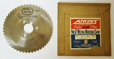 "ATKINS USA 6"" Metal Milling Saw Blade .094"" Width 1-1/4"" Hole 50 Teeth HSS"