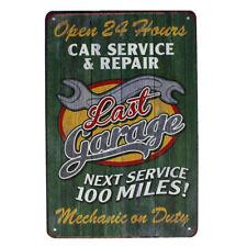Metal Tin Sign last garage car repair service Decor Bar Pub Home Vintage Retro