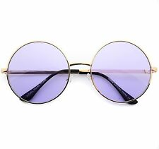 Breeze Sunglasses John Lennon Purple Lens Round Hippie Eye Glasses Retro Shades