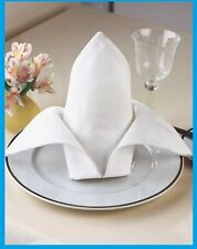 120 new white pro premium mercerized 100%cotton napkins 20x20 catering grade