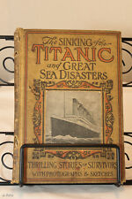 THE SINKING OF THE TITANIC & GREAT SEA DISASTERS (1912) 1st Ed. & Post Card 1912