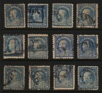1917 Sc 515 20c ultramarine, lot of 12 used singles