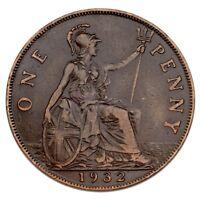 1932 Great Britain Penny VF Condition KM #838