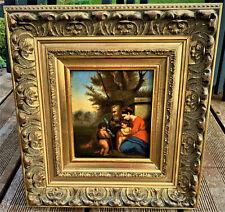 ancien tableau la sainte famille ecole italienne 18 eme religieux italie 18th