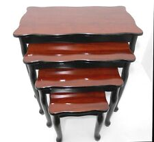 NF Masterpiece wood nest of tables / Brown & black color /Home Decorative