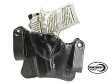 Sig Sauer P238 No Laser IWB Dual Snap Leather Holster LEFT Hand Black