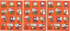 3 Sheets Snoopy Peanuts Lucy Charlie Brown VINTAGE 80's HALLOWEEN Stickers