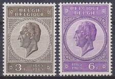 Belgium**KING LEOPOLD-MEDAILLONS-2stamps-ROYALTY-1965-MNH