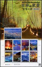 Japan 2017 Night View 4 Feuerwerk Brücke Eisenbahn Bambus Wald Architektur MNH