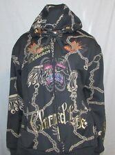 Christian Audigier Black Hooded Jacket  3XL