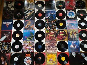 COLLECTION HEAVY METAL VINYL SABBATH NUCLEAR ASSAULT KISS LP RECORD ROCK JOB LOT