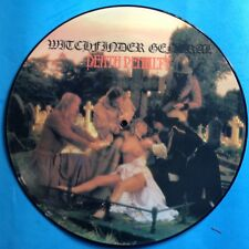 """Witchfinder General-Death Penalty-12"""" PICTURE DISC-1982 UK Heavy Metal- UNPLAYED"""
