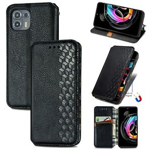 For Motorola Moto Edge 20 Lite / Edge 20 PRO Luxury Magnetic Wallet Leather Case